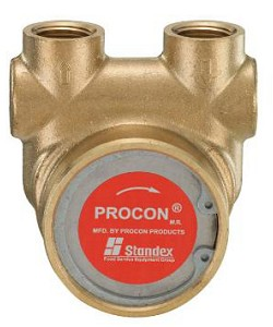 Procon 102A080F11BA225 3/8 inch NPT Port Clamp-on 225 PSI 80 GPH Brass Pump