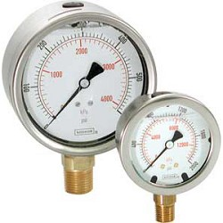 Noshok 25-911-600 2.5 inch SS 1/4 inch CB 0-600 PSI/KPA Liquid Filled Gauges