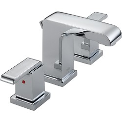 Delta 3586LF-MPU Arzo Two Handle Widespread Lavatory Faucet Chrome Finish