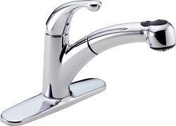 Delta 467-DST Palo Single Handle Pull-Out Kitchen Faucet - Chrome
