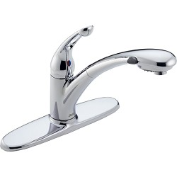 Delta 472-DST Signature Single Handle Pull-Out Kitchen Faucet Chrome Finish