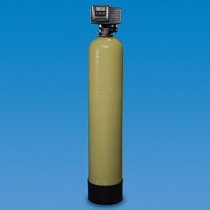 Structural 56-1-C40 9 inch x 48 inch Poly Glass Backwahing Carbon Whole House Filter with Fleck 5600 Valve