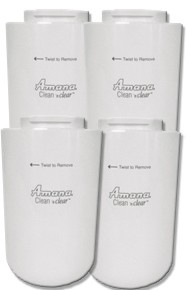 Amana 12527304 Refrigerator Water Filter - Clean 'n Clear WF401 - 4 Pack