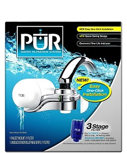 PUR FM-9600 Horizontal Faucet Water Filter - White Finish