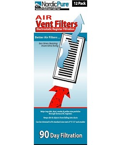 Air Vent Filters 4 x 12 - Electrostatic Register Filtration
