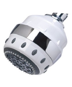Sprite Royale 5 Setting AR5-GT Filtered Shower Head with SLC Cartridge - White with Gold Trim
