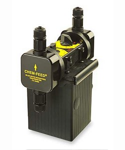 Blue-White C17N303X410VA2 Chem-Feed C-1700N Series Injector Pump 150 GPD Dual Head 115V Teflon