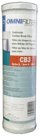 CB3 OmniFilter Undersink Filter Replacement Cartridge