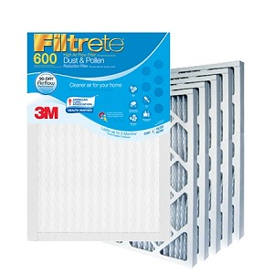 16x25x1 Filtrete Dust & Pollen Air Filter (15.6x24.6x.875 - Actual Size) 6 Pack