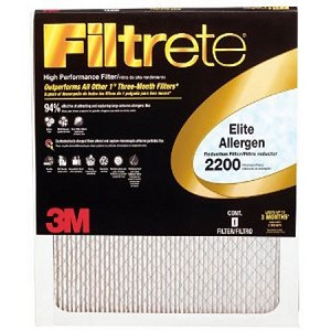 20x25x1 Filtrete Elite Allergen Air Filter (19.6x24.6x.875 - Actual Size)
