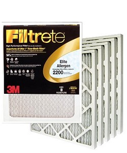 16x25x1 Filtrete Elite Allergen Air Filter (15.6x24.6x.875 - Actual Size) 6 Pack