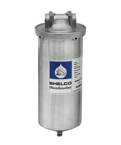 "Shelco 10"" 304L Stainless Steel Full Flow/BB Single Cartridge Housing with 1-1/2"" Ports"