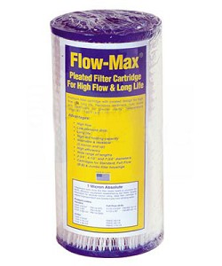 Flow-Max FM-BB-10-1 Full Flow/BB 10 inch � 4 1/2 inch 1 µ Synthetic Filter Media Pleated Sediment Cartridge