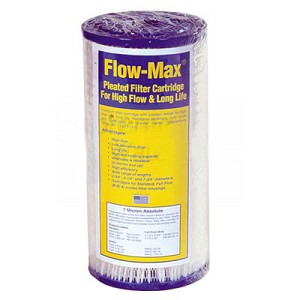 Flow-Max FM-BB-10-50 Full Flow/BB 10 inch × 4 1/2 inch 50 µ Synthetic Filter Media Pleated Sediment Cartridge