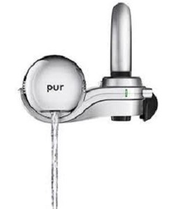 PUR FM-9400 Horizontal Faucet Water Filter - Chrome