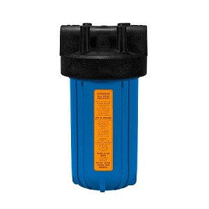Kemflo FW5000BL15 Heavy Duty Blue Filter Housing for Full Flow/BB 10 inch × 4 1/2 inch Cartridge with 1 1/2 inch Port