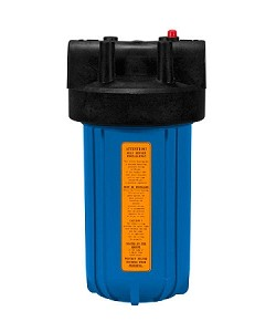 Kemflo FW5000BL34PR Heavy Duty Blue Filter Housing for Full Flow/BB 10 inch � 4 1/2 inch Cartridge with 3/4 inch Port and Pressure Release