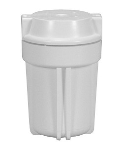 FW500WW14-RC Standard 5 inch Ridge Cap White Filter Housing with 1/4 inch Port