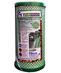 "Filtrex FXB10CYST Carbon Block Filter  4-1/4"" x 9-3/4"""