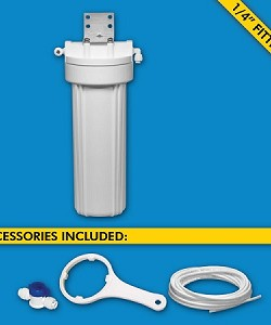 H2O International H2O-UCF-01-14 Single Stage Under Sink System with 1/4 inch Tubing Ball Valve Cartridges and Faucet Sold Separately