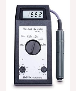 Hanna HI8033 Conductivity and TDS Handheld Multi-purpose Meter with Probe