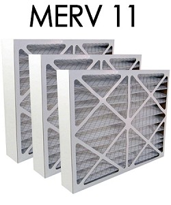 20x24x4 MERV 11 Pleated Air Filter 3PK (19.375x23.375x3.625 - Actual Size)