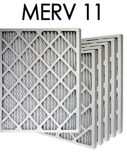 10X30X1 MERV 11 Pleated Air Filter 6PK (9.5x29.5x.75 - Actual Size)