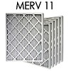 14x14x1 MERV 11 Pleated Air Filter 6PK (13.5x13.5x.75 - Actual Size)