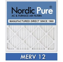 16x25x4 MERV 12 Furnace AC & Furnace Air Filters - Box of 6