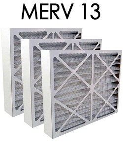 16x25x4 MERV 13 Pleated Air Filter 3PK (15.5x24.5x3.625 - Actual Size)