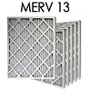 14x14x1 MERV 13 Pleated Air Filter 6PK (13.5x13.5x.75 - Actual Size)
