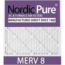 14x20x2 MERV 8  AC & Furnace Air Filters - Box of 3
