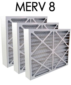 20x24x4 MERV 8 Pleated Air Filter 3PK (19.375x23.375x3.625 - Actual Size)