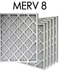 16x16x2 MERV 8 Pleated Air Filter 6PK (15.5x15.5x1.75 - Actual Size)