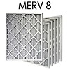 12x25x1 MERV 8 Pleated Air Filter 6PK (11.5x24.5x.75 - Actual Size)