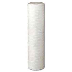 Shelco MS20FP5-45-B-T 20 inch x 4 1/2 inch 5 µ String Wound Polypropylene Sediment Cartridge