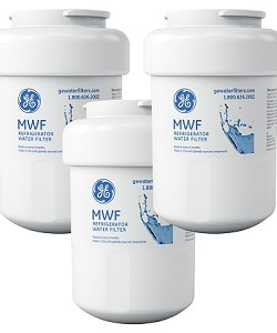 MWF GE SmartWater Refrigerator Replacement Water Filter Cartridge - 3 Pack