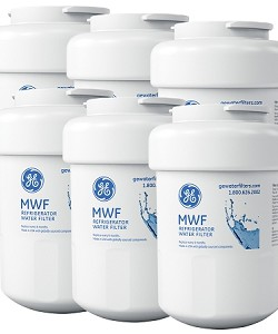 MWF GE SmartWater Refrigerator Replacement Water Filter Cartridge - 6 Pack
