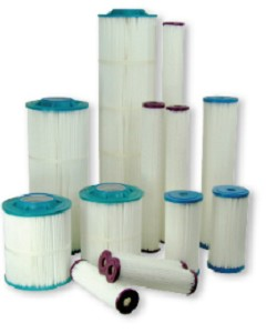 Harmsco PP-S-1 9 3/4 1 Micron Absolute Poly-Pleat Filter Cartridge