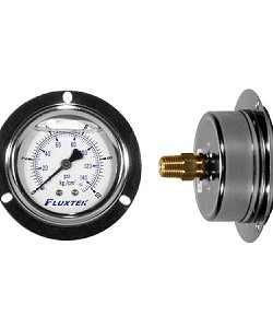 PRG6063-PM 0-150 PSI 1/4 inch MPT Panel Mounted Oil-Filled Pressure Gauge