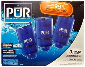 PUR 3 STAGE Faucet Water Filter Replacement RF-9999 3 Pack