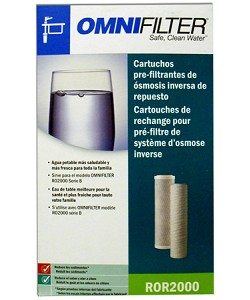 OmniFilter ROR2000 - Replacement Reverse Osmosis Pre Filter Cartridges