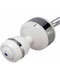 Sprite Slim-Line 2 SL2-WHCT Universal Shower Filter & 3 Setting Shower Head - White with Chrome Trim