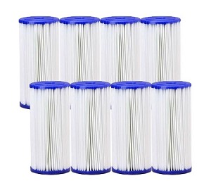 30 Micron Pleated Polyester Sediment Filter 4.5 x 10  Replaces FXHSC - 8 Pack