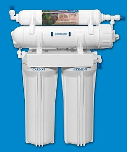 Rioflow USRO4-60-QC-38 4 Stage Reverse Osmosis System 60 GPD 3/8 inch Membrane and Quick-Connect Fitting