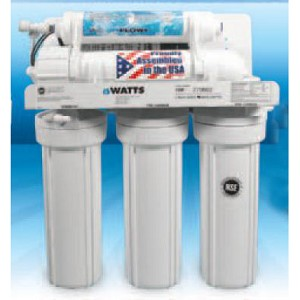Watts W-525P-110 5 Stage 50 GPD Reverse Osmosis System with Aquatec Booster Pump