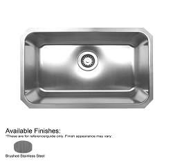Noah's Collection 30 1-4-Inch Single Bowl Rectangular Undermount Kitchen Sink By Whitehaus