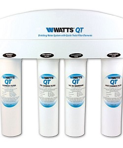 Watts WQT4RO11-50MT Quick Twist Reverse Osmosis System with Cartridge and 3.2 Gallon Metal Tank