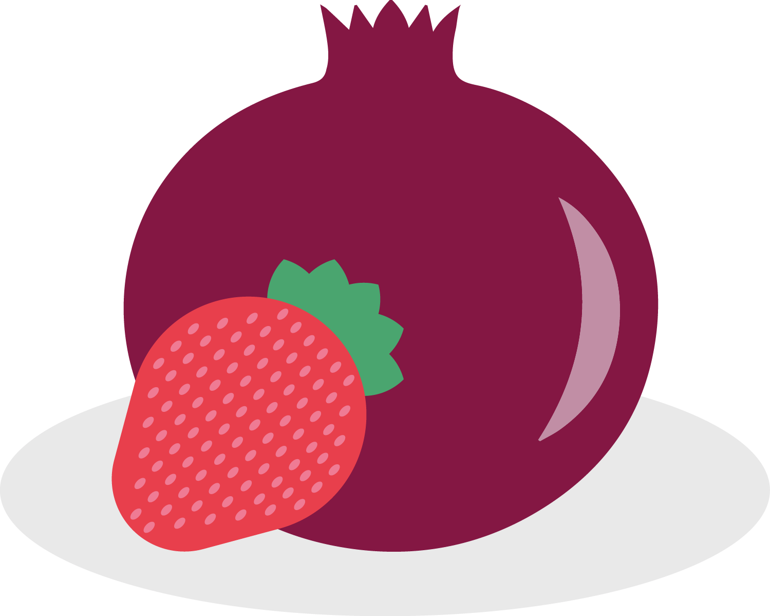 Strawberry-pomegranate