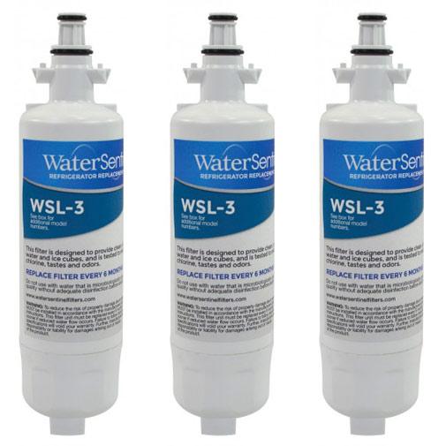 water sentinel wsl 3 refrigerator filter lg lt700p compatible 3 pack. Black Bedroom Furniture Sets. Home Design Ideas